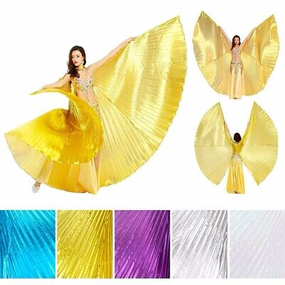Butterfly Belly Dance Costume Isis Wing Egyptian Dancer Wear Halter Cape Wings