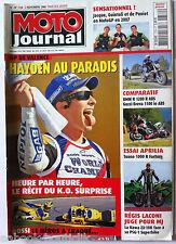 Moto Journal du 2/11/2006; Essai Aprilia Tuono R Factory/ BMW R 1200 R ABS/ Guzz