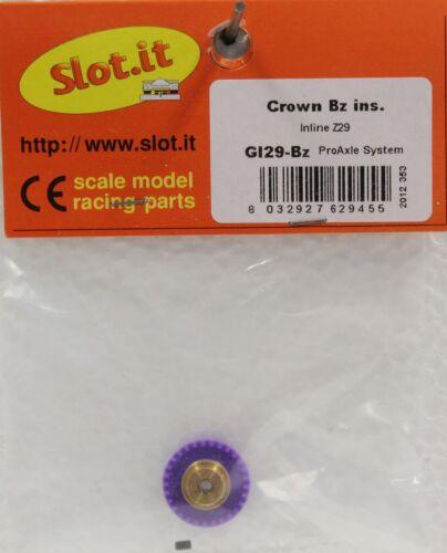 SLOT IT SIGI29B 29 TOOTH POLYMER INLINE CROWN GEAR 3/32 , NEW 1/32 SLOT CAR PART