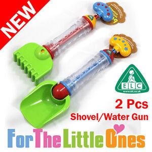 Early-Learning-Centre-2Pc-Set-Beach-Sand-Shovel-Rake-Water-Gun-Children-Toy