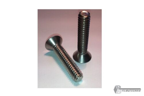 2x 1/4 cámara tornillo 19mm senkkopf acero inoxidable a2-telescopio tornillo cam screw
