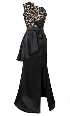 Gatsby Inspired Black and Champagne Lace Peplum 1920's Art Deco Cocktail Dress