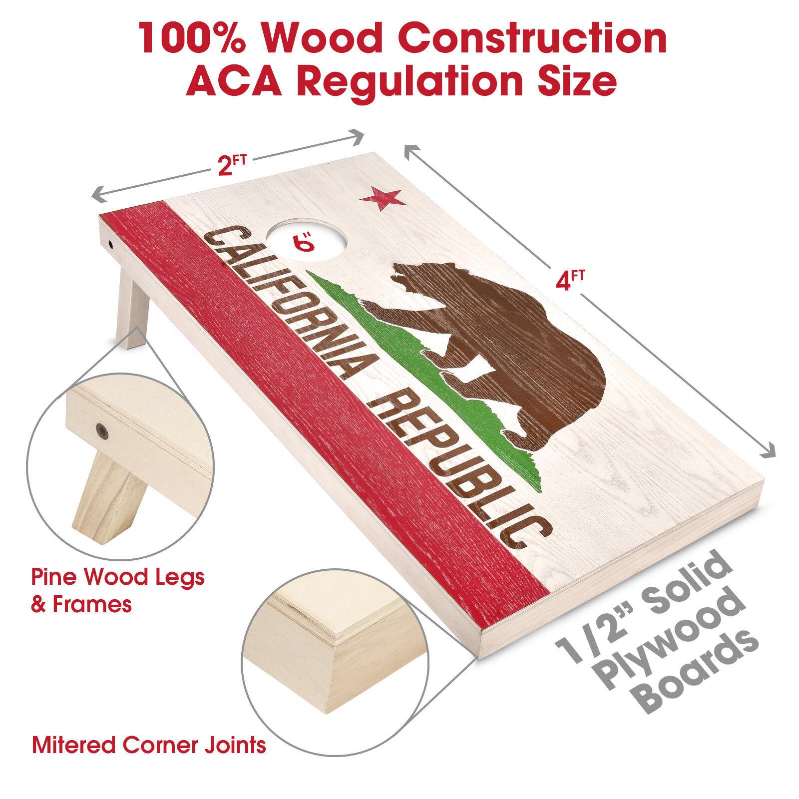 GoSports California State  Flag Regulation Size 4x2 Wood Cornhole Boards Game Set  buy brand