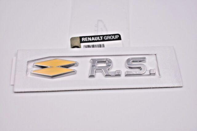 MONOGRAMME RENAULT CLIO MEGANE IV 4 RS SPORT LOGO EMBLEME BADGE GENUINE