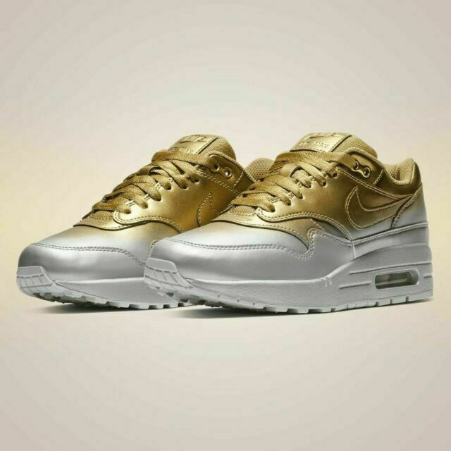 Size 8 - Nike Air Max 1 LX Metallic Gold Platinum for sale online ...