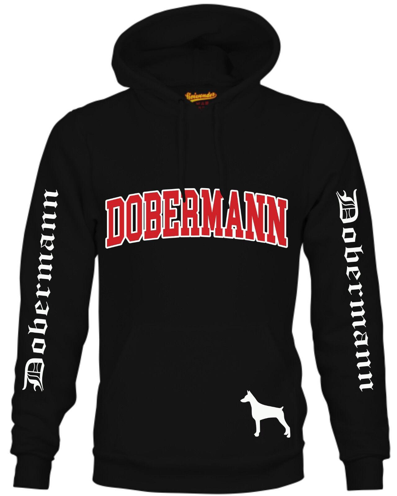 DOBERMANN - EXTREME Kapuze Hund Dobie Dobynm Pinscher Dobi Sweatshirt Siviwonder