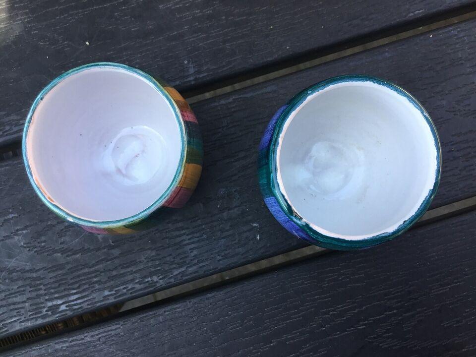 Keramik, Bangholm Denmark 60'er retro æggebægre,