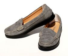 Womens Classic Loafer Moccasin Flat Oxford Faux Suede Casual Shoes Slip On