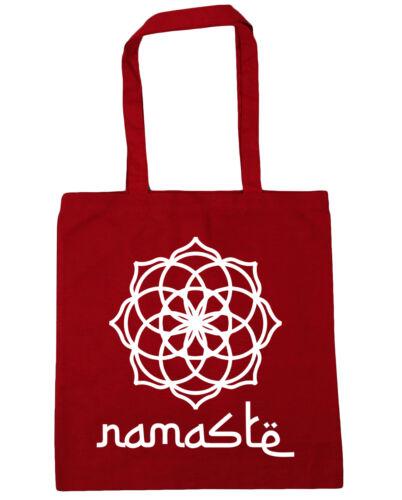 Spiritual Mandala Namaste Tote Shopping Gym Beach Bag 42cm x38cm 10 litres