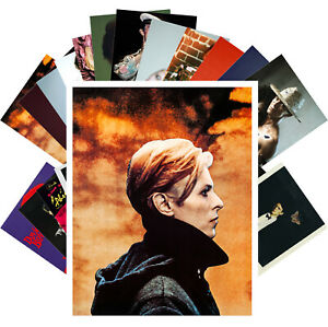 Postcards-Pack-24-cards-David-Bowie-Rock-Music-Vintage-Posters-Covers-CC1258