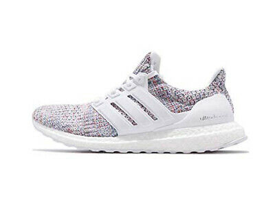 premium selection fd9ac e0f82 Adidas Ultra Boost 4.0 Men's White Multi Color Cloud White Blue DB3198 |  eBay