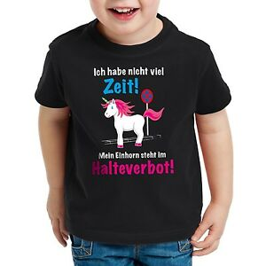 Keine Zeit Einhorn im Halteverbot Damen T-Shirt Unicorn steht Parken Spruch fun