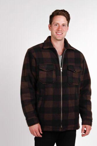 MAXXSEL Men/'s Heavy Warm Buffalo Plaid Sherpa Lined Fleece Jacket S-5XL