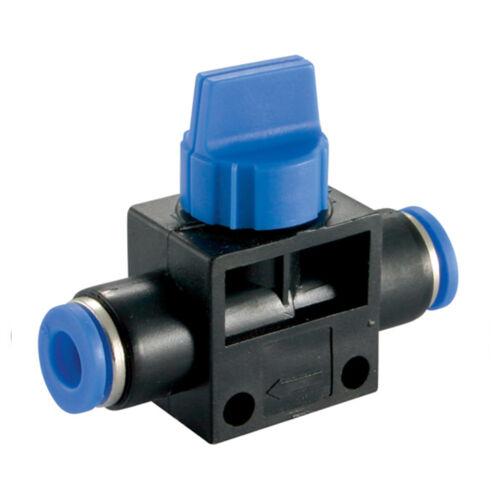 Manguera Manual de cierre automático válvula de aire neumático Push Accesorios-línea de aire Nylon Tubo