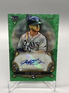 2020-Topps-Triple-Threads-Mike-Brosseau-Rookie-Auto-50-Tampa-Bay-Rays-RC