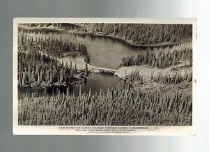 1943-Edmonton-Canada-Alaska-Highway-Wilderness-Real-Picture-Postcard-Cover