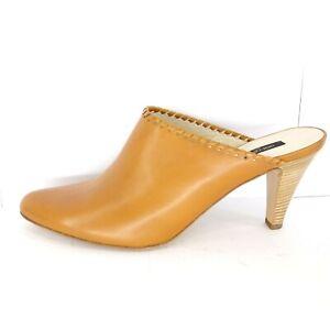 Sergio-Rossi-Chaussures-Femmes-Escarpins-Mules-Elegant-Braun-Cuir-41-5-Np-310
