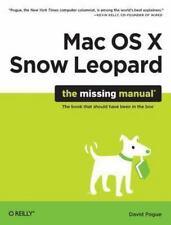 Mac OS X Snow Leopard: The Missing Manual, David Pogue, 0596153287, Book, Good