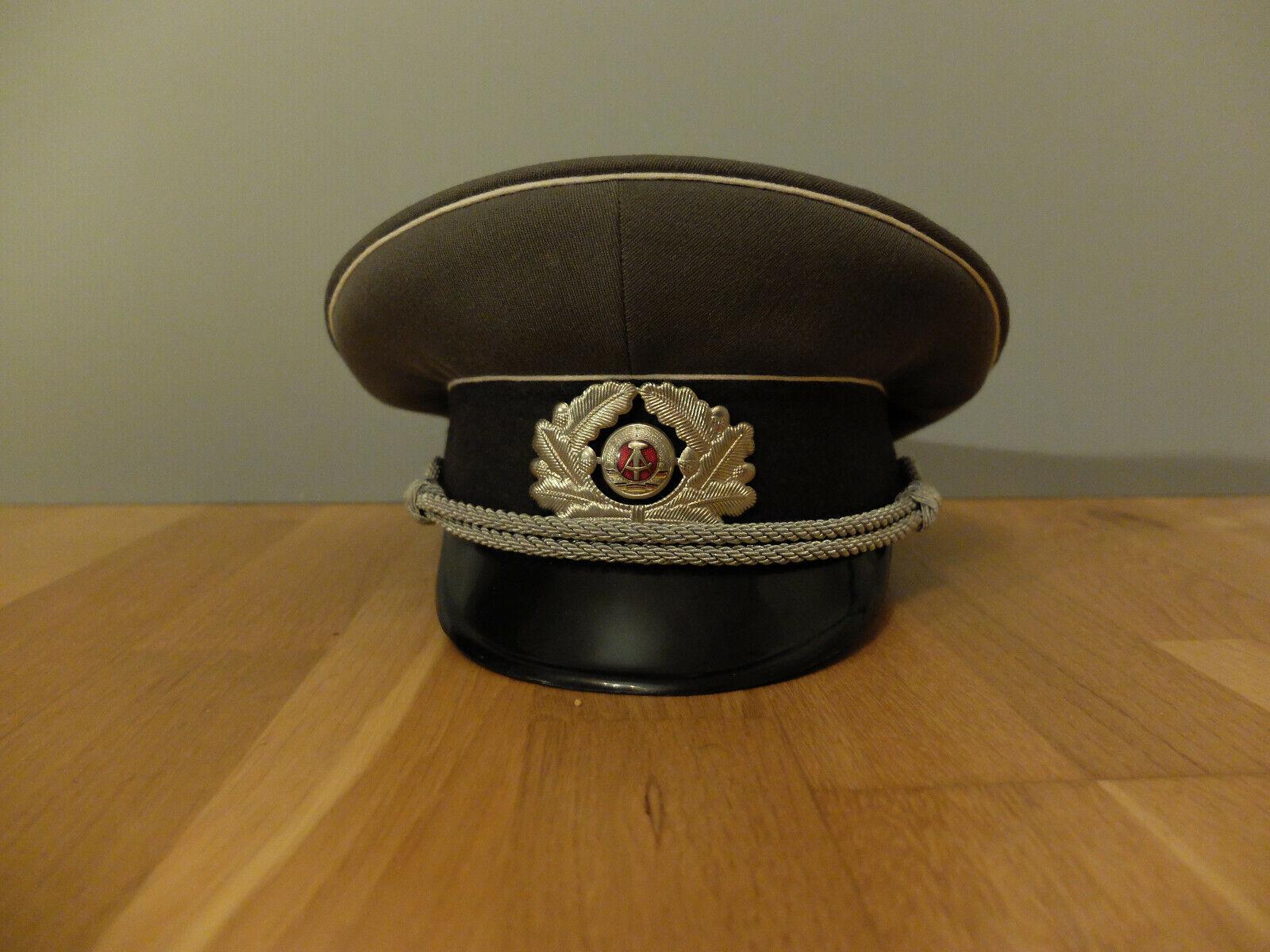 Bild 1 - Schirmmütze NVA Offiziere Landstreitkräfte DDR, Größe 58