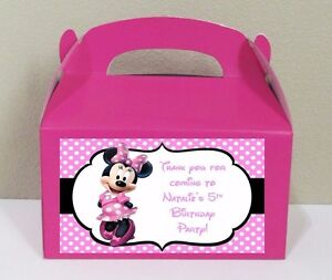 Image Is Loading 12 Pink Minnie Mouse Favor Bo Candy