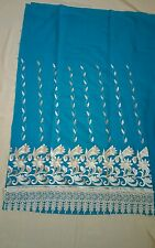INDIAN PUNJABI UNSTITCHED SUIT EMBROIDERED WITH THREAD DARK SKY BLUE 3PC SET NIB