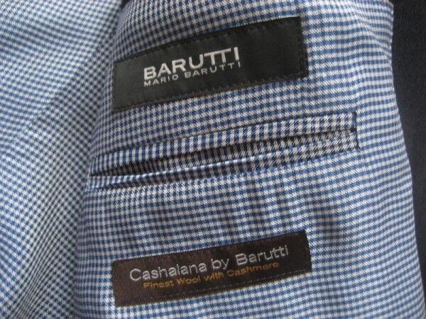 Barutti Uomo Giacca In Nero/Tg. Nero/Tg. In 50/NUOVO 55b036