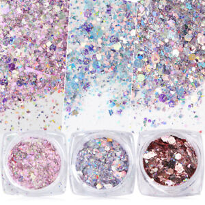 Nail-Art-Glitter-Powder-Dust-UV-Gel-Acrylic-Sequins-Broken-Flakes-Nails-Tips-New