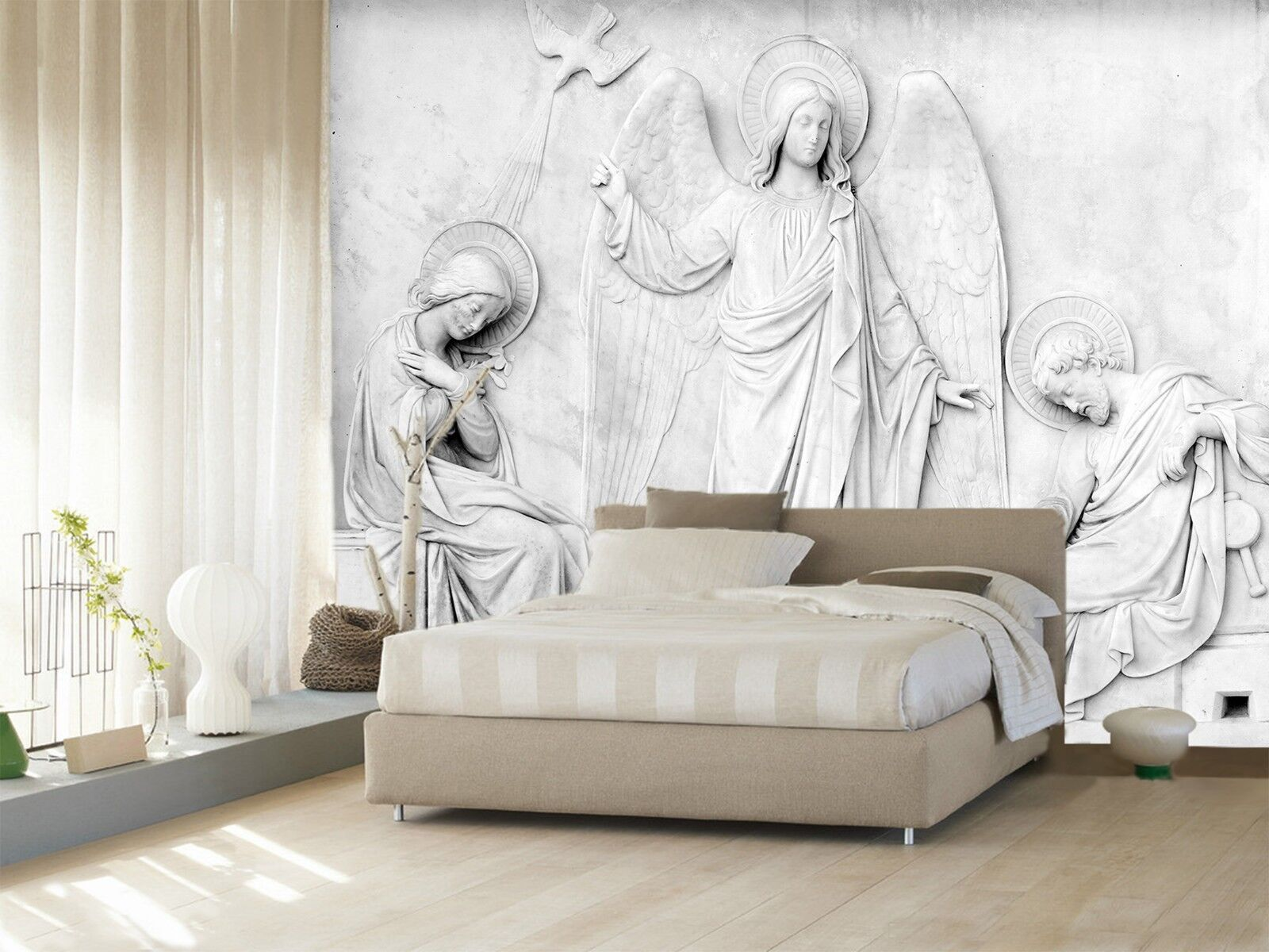 3D 3D 3D Art Relief Angel 34 Wallpaper Mural Print Wall Indoor Wallpaper Murals UK 57a2f7