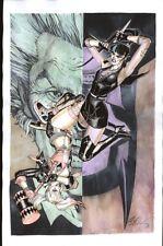 PUNCHLINE Vs HARLEY QUINN DC COMICS Original Art By BERNARD CHANG