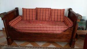 Canapé style Louis Philippe en bois massif