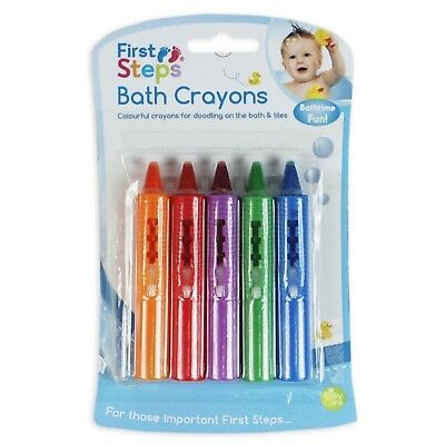Pack of 5 Bath Time Toy Crayons Multi-Coloured