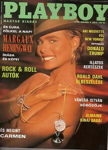 details about playboy hungary 1990/05 - cv margaux hemingway - cf lisa  matthews