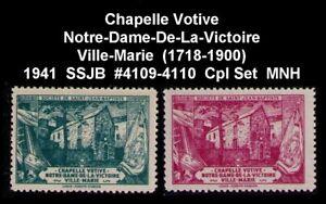 CANADA-SSJB-1941-CHAPELLE-NOTER-DAME-DE-LA-VICTOIRE-1718-1900-CPL-SET-CINDERELLA