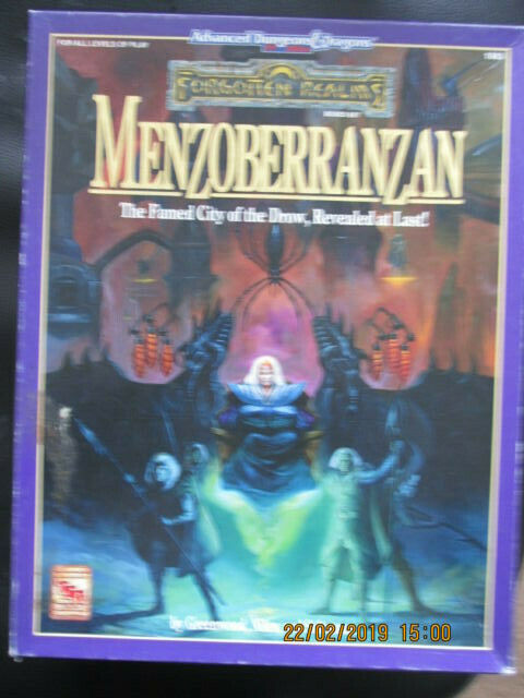 TSR AD&D FORGOTTEN REALM 2E MENZOBERRANZAN 1083 DROW BOXED ADV DUNGEON DRAGON