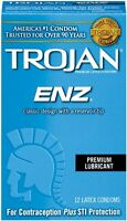 Trojan Enz Lubricated Condoms, 12 Each on sale