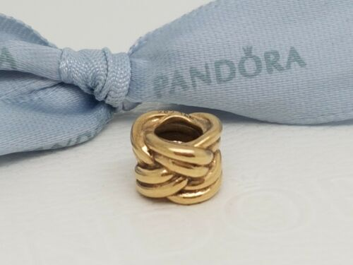 1 of 1 - PANDORA Genuine 14ct Gold KNOT CHARM 750461 RRP $419 Retired