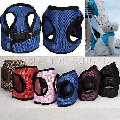 Pet Harness Leash Strap Soft Mesh Dog Cat Adjustable Vest Safety Collar Clothing