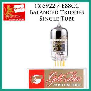 New 1x Genalex Gold Lion 6922 / E88CC *Balanced Triodes* | One / Single Tube
