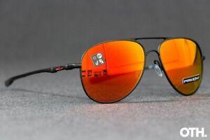 Oakley ELMONT L Sunglasses OO4119-1360 Satin Black Frame W/ PRIZM Ruby Lens