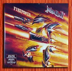 Judas-priest-Feuerkraft-exklusive-limitierte-Orange-amp-BLACK-Vinyl-2LP-versiegelt