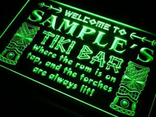 Personnalisé Tiki Bar DEL Signe Personnalisé Nom Neon Wall Decor