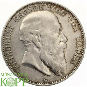 AA1009) J.33 BADEN 5 Mark 1904 G - Friedrich I. 1852-1907