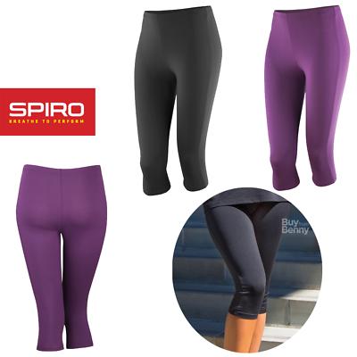 Gut Ausgebildete Spiro Capri Pants Gym Training Run Yoga Fitness Quick Dry Knee Sport Leggings Auswahlmaterialien