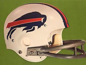 Vtg-1970-039-s-NFL-Promo-Buffalo-Bills-Die-Cut-Cardboard-Riddell-Helmet