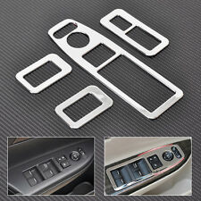 4x Chrome Door Window Switch Panel Trim Cover For 2013-2015 Honda Accord 9TH GEN