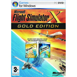 Details about Microsoft Flight Simulator X Gold Edition, PC Games, New,  Free Shipping, Sealed