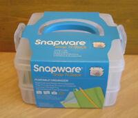 Snapware Snap N Stack Portable Craft Organizer Hobby Storage Bpa Free 6.5x6.2