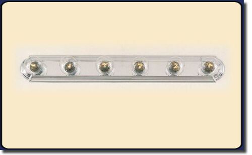"NIB 8LT VANITY BAR LIGHT RACE TRACK 48/""  8 LIGHT SCULPTED CHROME CH 4508-8"