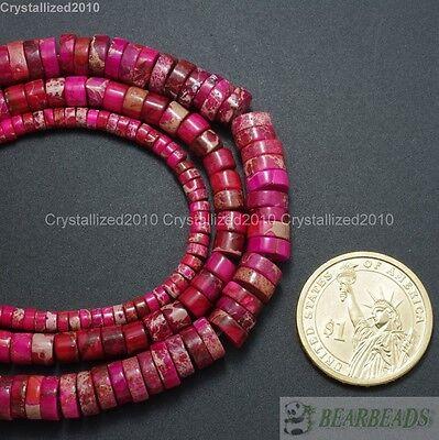 Natural Sea Sediment Jasper Gemstone Heishi Loose Beads 16'' Strand 4mm 6mm 8mm