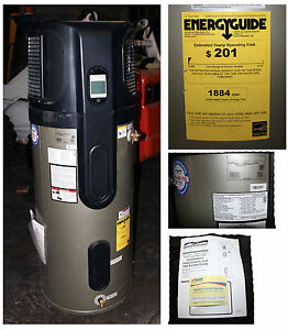 Water Heater 60 Gallon American Hybrid Electric Heat